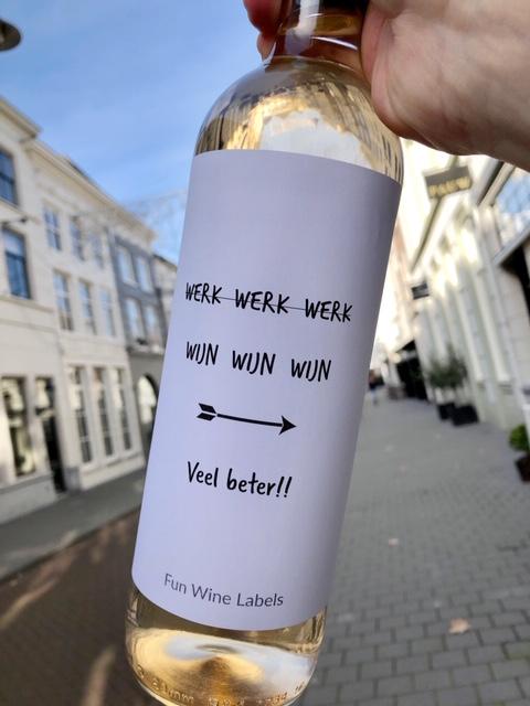 Wijnetiket – Werk Wijn